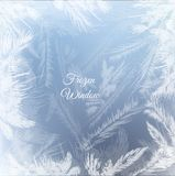 Frozen window background. Vector EPS10. Frozen window background with hoarfrost patterns can be used for Christmas sale or New Year Party leaflet. Vector EPS10 royalty free illustration