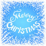 Frozen window. With Christmas greetings. Christmas card Royalty Free Stock Photos