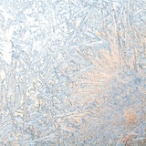 Frozen Window. christmas time card. Royalty Free Stock Image