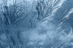 Frozen window-glass Royalty Free Stock Image
