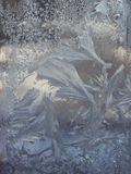 Frozen window glass background Stock Photo