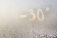 Frozen window glass royalty free stock photo