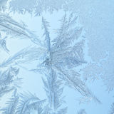 Frozen window with glass pattern Royalty Free Stock Image