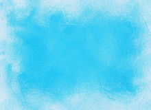 Frozen window ice blue frame backgrounds Royalty Free Stock Photos