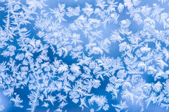 Frozen window pattern Royalty Free Stock Photography