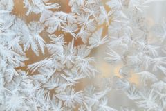 Frozen window patterns Royalty Free Stock Photo
