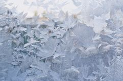 Frozen window, winter background Stock Image