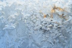Frozen window, winter background Royalty Free Stock Photography