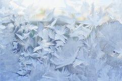 Frozen window, winter background Stock Photos