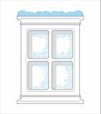 Frozen window Stock Images