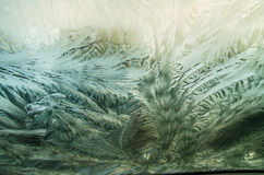 Frozen windshield Stock Photography