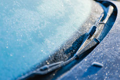 Frozen windshield Royalty Free Stock Photo