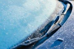 Frozen windshield Royalty Free Stock Photo