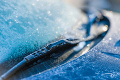 Frozen windshield Royalty Free Stock Images