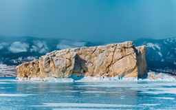 Frozen winter Baikal Royalty Free Stock Images