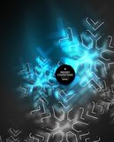 Frozen winter holiday background, Christmas snowflakes. New Year 2018 seasonal abstract background, blue color stock illustration