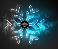 Frozen winter holiday background, Christmas snowflakes. New Year 2018 seasonal abstract background, blue color Royalty Free Stock Photography