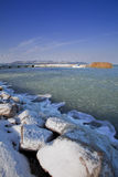 Frozen winter lake Royalty Free Stock Images