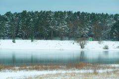 Frozen winter lake Royalty Free Stock Image