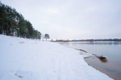 Frozen winter lake Royalty Free Stock Photo