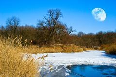 Free Frozen Winter River Stock Photography - 16435932