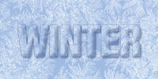 Frozen winter text Stock Images