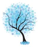 Frozen winter tree. Vector illustration. Royalty Free Stock Image