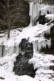 Frozen Winter Waterfall Cathedral Falls WV Royalty Free Stock Photo