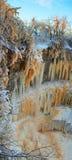 Frozen winter waterfall Royalty Free Stock Image