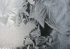 Frozen winter window Royalty Free Stock Photos