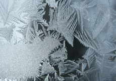 Frozen winter window Stock Photos