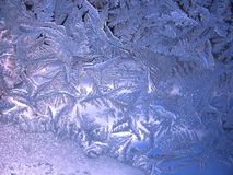 Frozen winter window Royalty Free Stock Images
