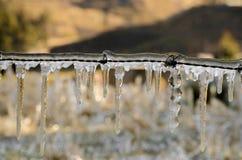 Frozen wire Stock Photo