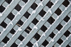 Frozen Wooden Fence Royalty Free Stock Images