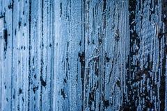 Frozen wooden wall Stock Photos