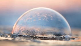 Frozen world - soap bubble freeze stock video