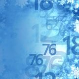 Frozen xmas winter sale numbers elegant background Stock Image