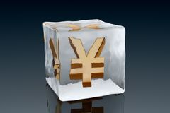 Frozen Yen Royalty Free Stock Photos