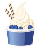 Frozen yogurt with blueberries Stock Image