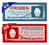 Frozen yogurt coupons Royalty Free Stock Photos