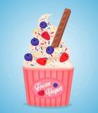 Frozen yogurt cup Stock Photography