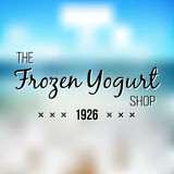 Frozen Yogurt Design Badges and Labels. Ice Cream Shop Logo design element.  Stock Photo