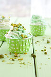 Frozen Yogurt with fresh pistachio royalty free stock photo