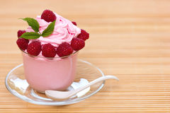 Frozen yogurt. In the glass Stock Images