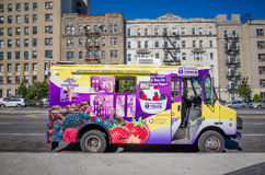 Frozen Yogurt and Ice Cream Truck in Brooklyn, New York City Royalty Free Stock Photos