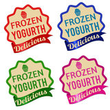 Frozen yogurt label, sticker or stamps Stock Image