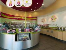 Frozen Yogurt Store Stock Photo
