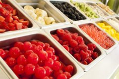 ‎Frozen Yogurt Toppings Royalty Free Stock Photos