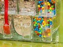 Frozen Yogurt Toppings Stock Image