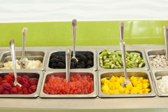 Frozen Yogurt Toppings Royalty Free Stock Photo